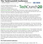 3 years ago @arrington announces our partnership for TechCrunch20!